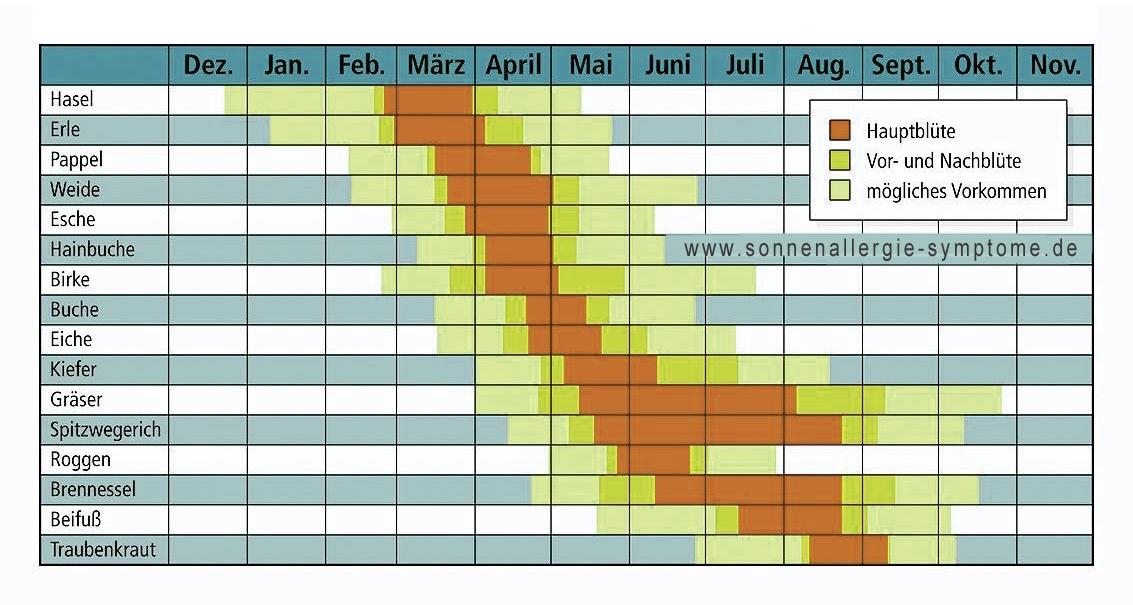 allergiekalender jetzt ihr eigener allergie kalender. Black Bedroom Furniture Sets. Home Design Ideas